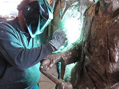 werkzaamheden bronsgieterij | afwerken