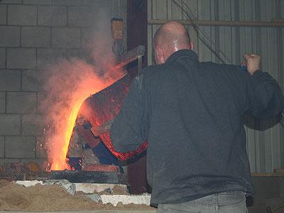 werkzaamheden bronsgieterij | gieten