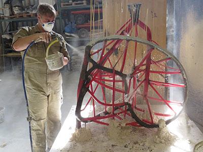 werkzaamheden bronsgieterij | invormen