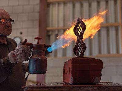 werkzaamheden bronsgieterij | patineren